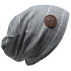 L + P APPAREL GREY WHITE STRIPE BEANIE