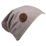 L + P APPAREL GREY/OLD PINK BEANIE