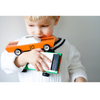 BOY WITH WOODEN TOY CARS