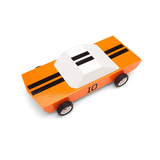 ORANGE STRIPE CANDYLAB TOY WOOD CAR