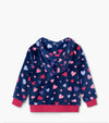 HATLEY RAINBOW PINK CONFETTI HEARTS FLEECE ZIP UP