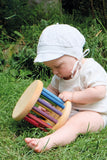 GRIMMS WOOD TOY WITH BABY PLAYING