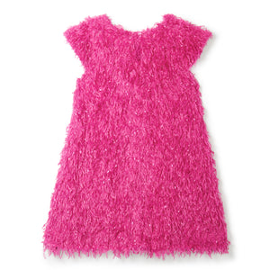 LITTLE GIRL FEATHER PARTY DRESS IN PINK