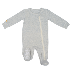 JUDDLIES GREY ZIPPER BABY SLEEPER