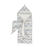 LOULOU LOLLIPOP FAIR ISLE HOODED TOWEL SET