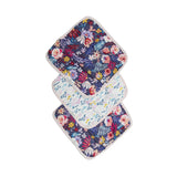 LOULOU LOLLIPOP DARK FIELD FLOWERS WASHCLOTH SET