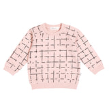 MILES PINK GRID SWEATER
