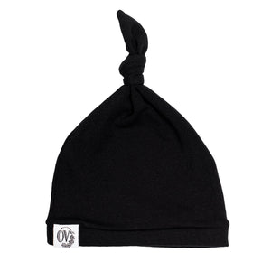 OVER BLACK BABY KNOT HAT