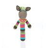 PEBBLE DONKEY STICK RATTLE
