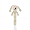 PEBBLE ORGANIC TEAL BUNNY STICK RATTLE