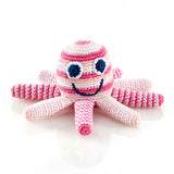 PEBBLE PALE PINK OCTOPUS RATTLE
