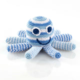 PEBBLE SOFT BLUE OCTOPUS RATTLE