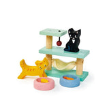 TENDER LEAF PET CATS SET WOOD TOY