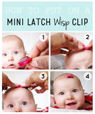 BABY WISP CHARLOTTE ROADTRIP MINI LATCH 3 PACK HAIR CLIPS