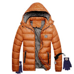 Womens Puffa Jacket and Gloves that Pop Together and Never Get Lost