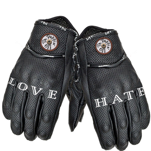 Perforated Leather ESK8 Technical Gloves That Never Get Lost