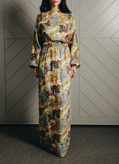 Load image into Gallery viewer, Jungle Linen Maxi Dress