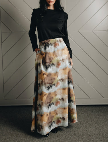 Cotton Mist Maxi Skirt