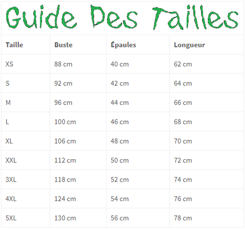 guide des tailles t shirt dinosaure t rex king