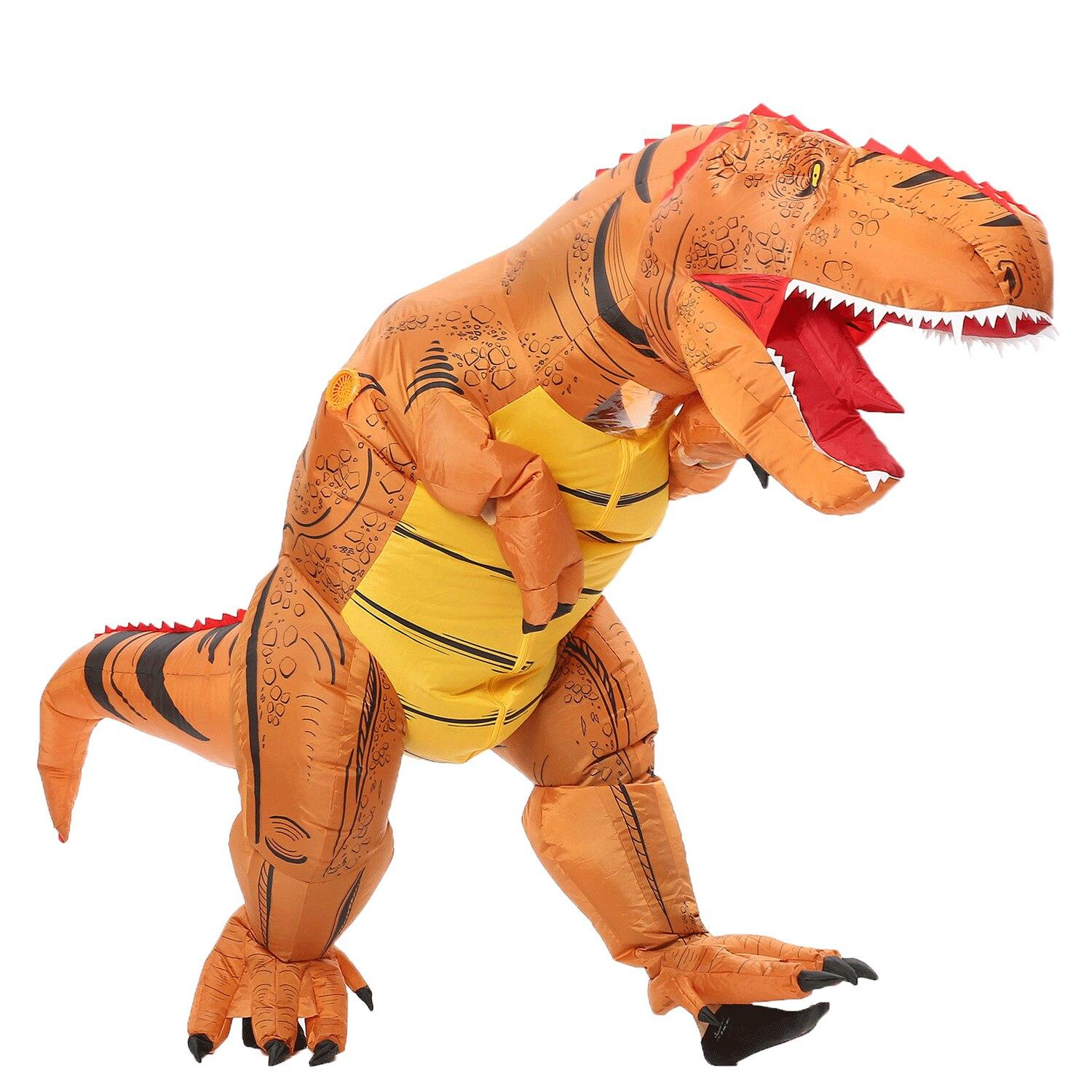costume dinosaure gonflable t rex marron