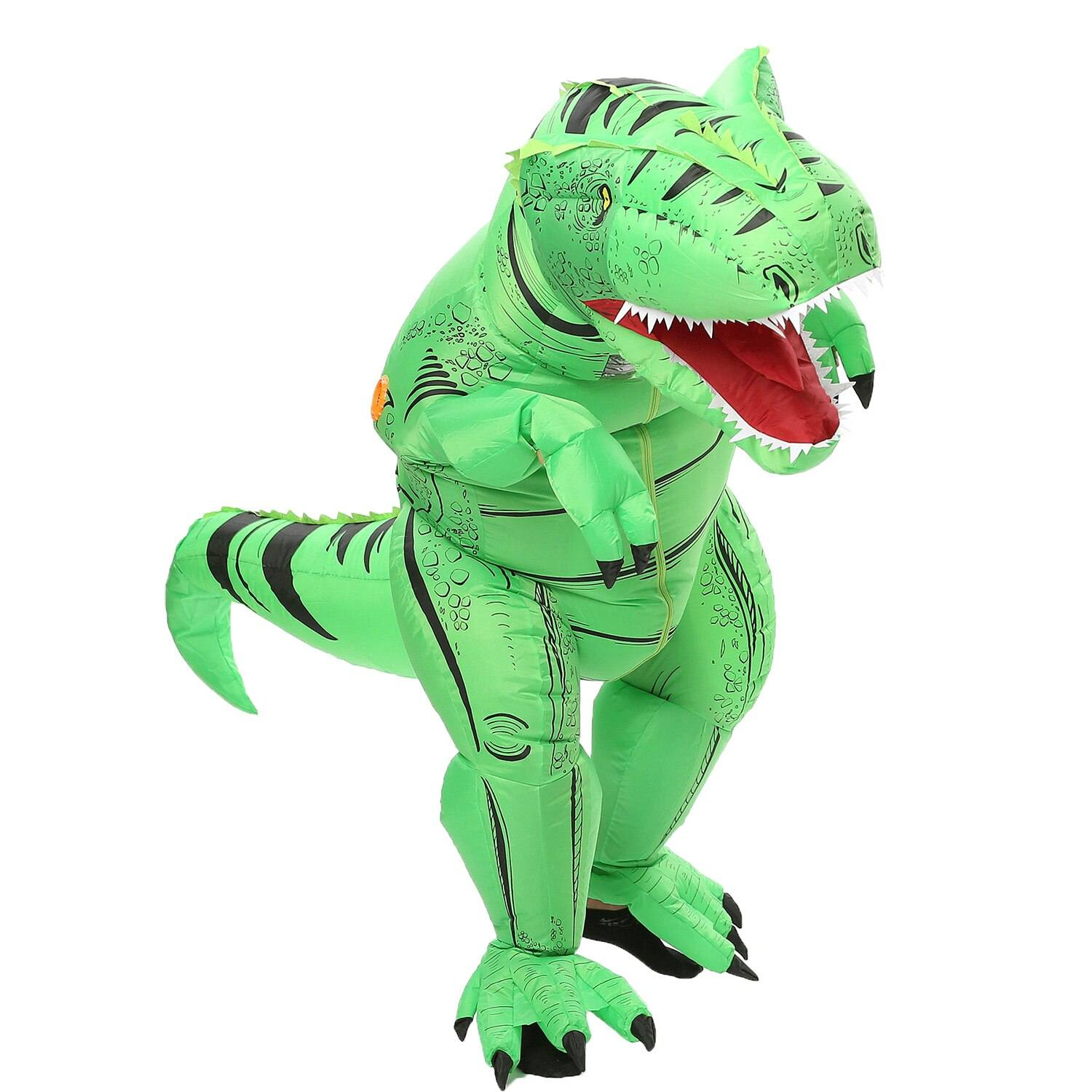 costume dinosaure gonflable t rex vert