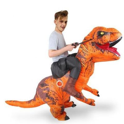 deguisement monture dinosaure orange