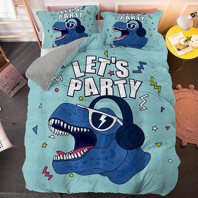 housse de couette dinosaure let's party