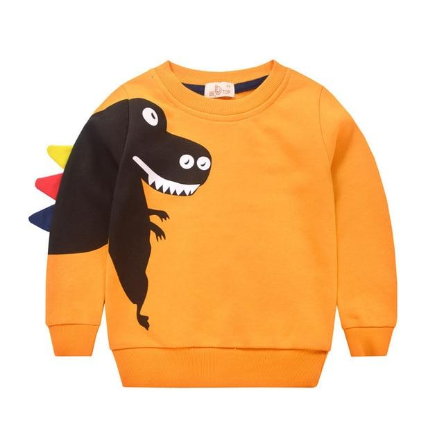 pull dinosaure enfant t rex orange