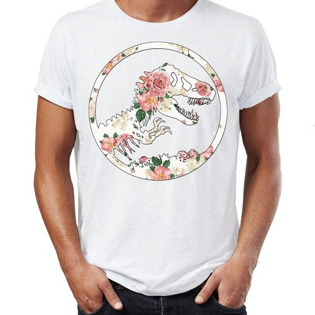 t shirt dinosaure flowers
