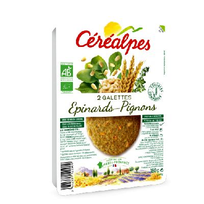 Galettes Epinard 2x90g Cerealpes