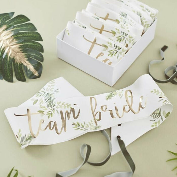 "Tropical Bride ""Team Bride"" -nauha 6 kpl"