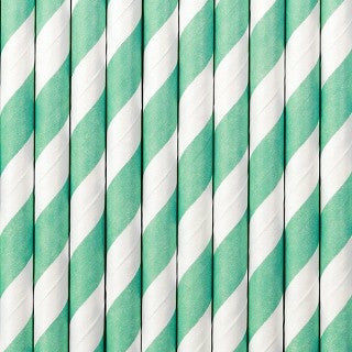 "Paperipillit ""Stripes"" / turkoosi 10 kpl - Decora House"
