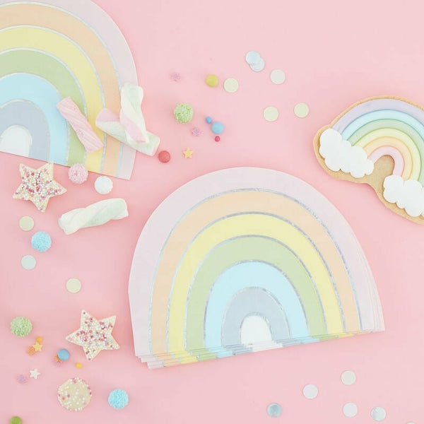 """Pastel Party Rainbow"" kahviservetit 16 kpl - Decora House"