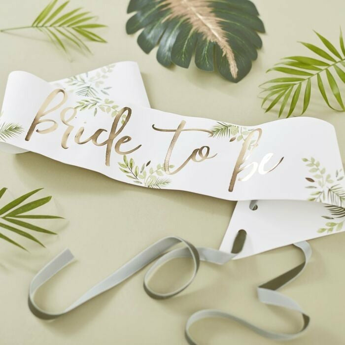 "Tropical Bride ""Bride to Be"" -nauha - Decora House"