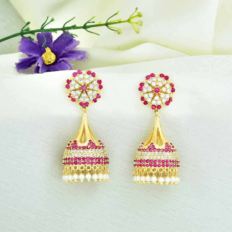 CZ Jhumka Earrings 85895