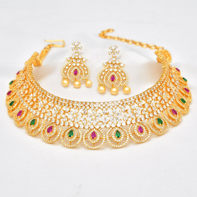 CZ Jhumka Earrings 55591