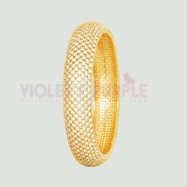 CZ Bangle ZBGL10476-GLD-FW