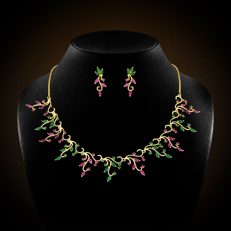 CZ Necklace Set 52018