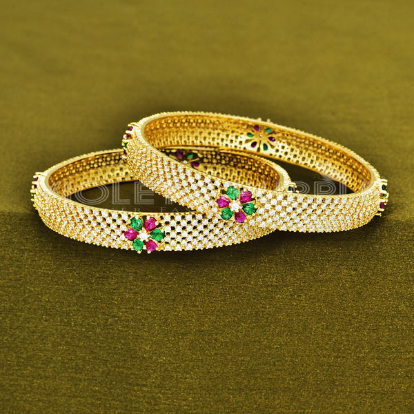 CZ Bangle Set ZBGL10136-REW