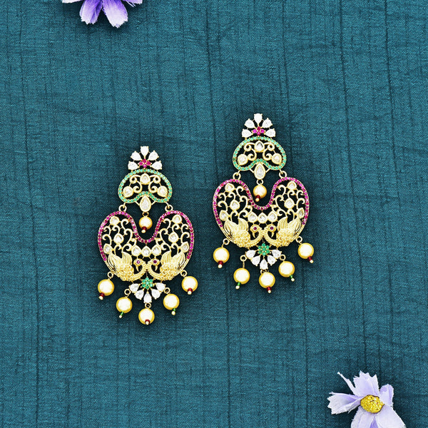 CZ Chandbali Earrings 55681