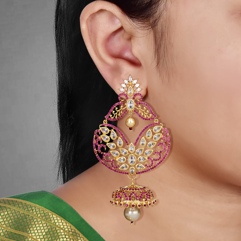CZ Chandbutta Earrings 55879