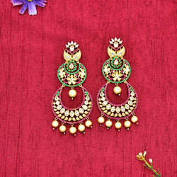 CZ Chandbali Earrings 55892