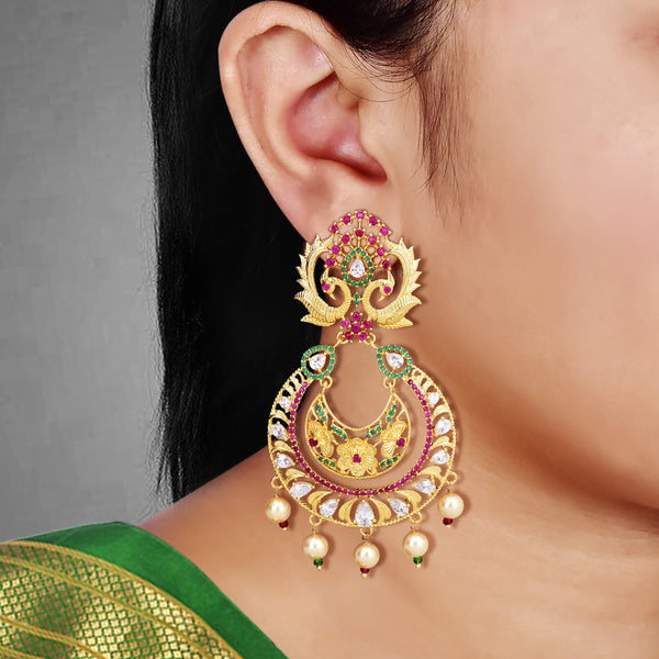 CZ Chandbali Earrings 55900