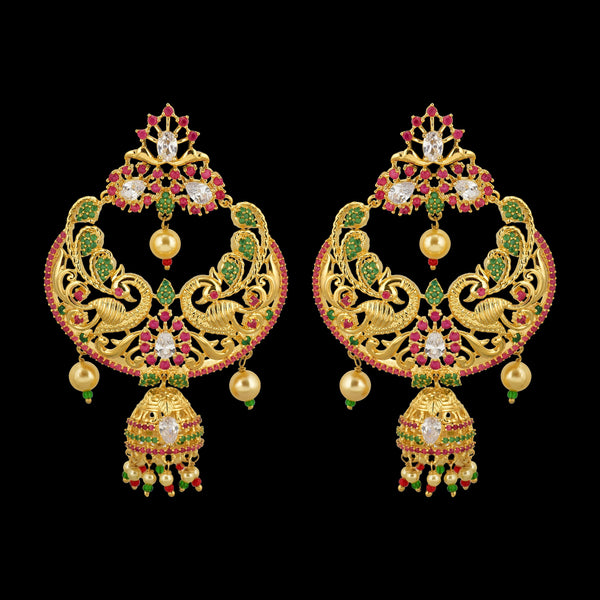 CZ Chandbutta Earrings 56008