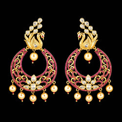 CZ Chandbali Earrings 57274