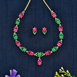 CZ Necklace Set 62083