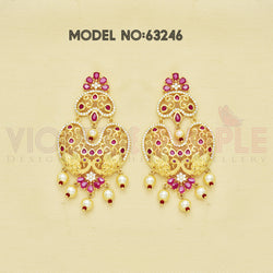 CZ Chandbali Earrings 63246