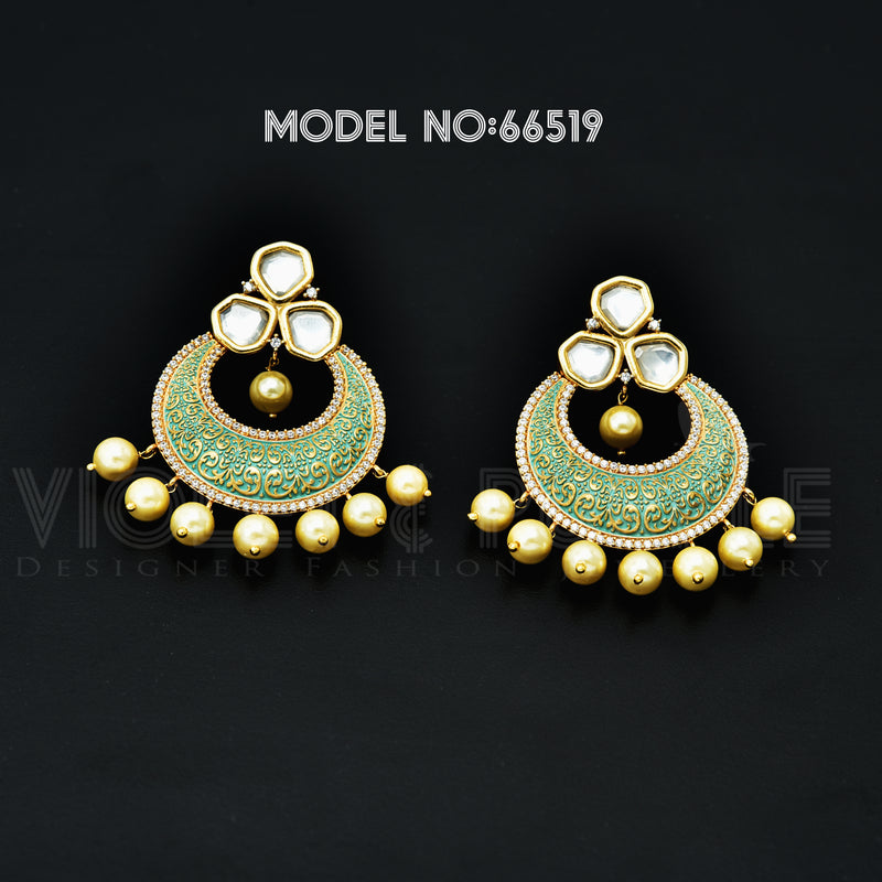 CZ Chandbali Earrings 66519