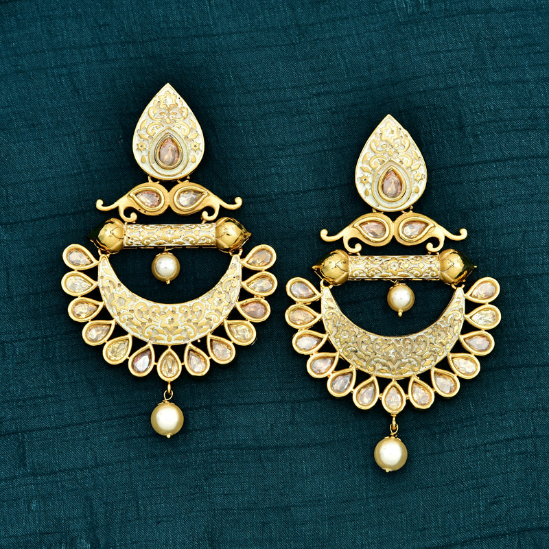 Kundan Chandbali Earrings 71755