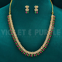 CZ Necklace Set 72605